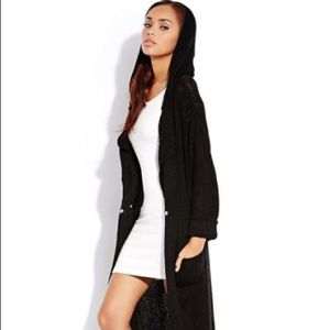 Black forever21 Long maxi length sweater cardigan